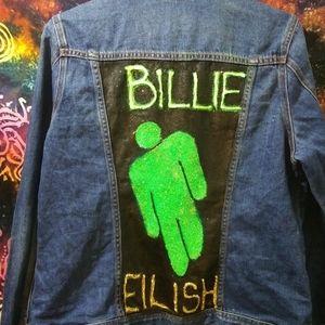 Billie Eilish denim jacket